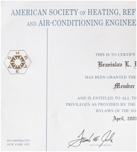 American society of heating refrigerating and air-conditioning engineers